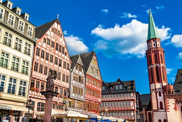 Case tradizionali a romerberg a francoforte sul meno, germania