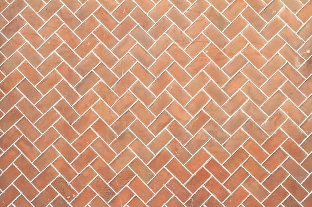 Muro di mattoni arancio tradizionale dalla città di puebla