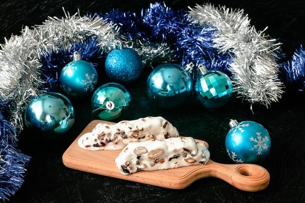 Dessert di torrone dolce di natale tradizionale spagnolo