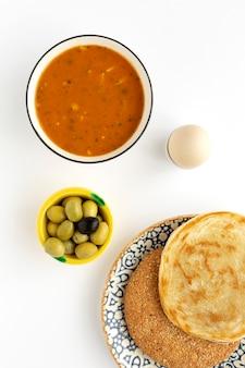 Cucina tradizionale tipica del ramadan fatta in casa