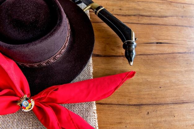 Settimana tradizionale nel sud del brasile. farroupilha settimana dei gauchos.