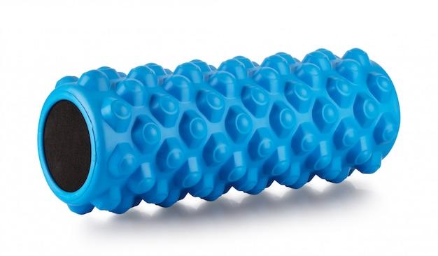 Rullo da massaggio blu da allenamento