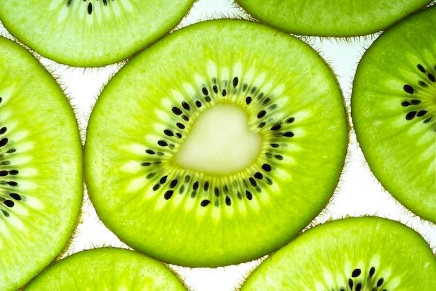 Kiwi trasparente fette texture pattern per lo sfondo