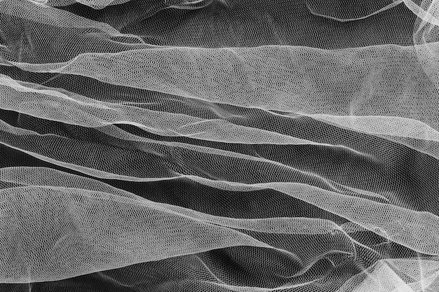 Ornamento trasparente per interni in tessuto