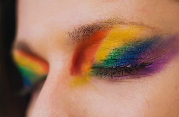 Ritratto maschile transessuale, supporto concettuale per gay, lesbiche, transgender e contro l'omofobia