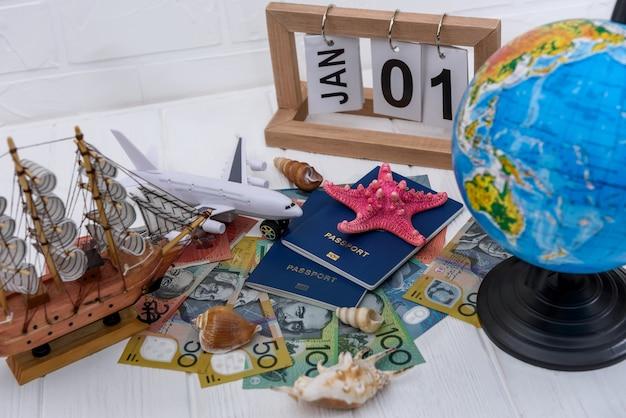 Viaggio in australia, pianificazione delle vacanze con passaporti