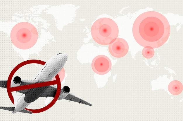 Divieto di viaggio durante lo sfondo della pandemia di coronavirus