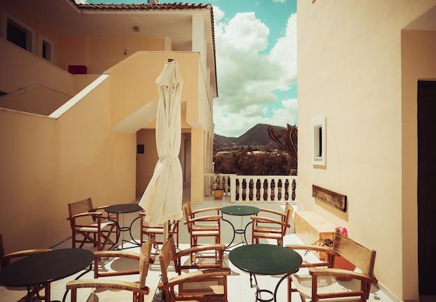 Concetto di viaggio - hotel a zante, grecia