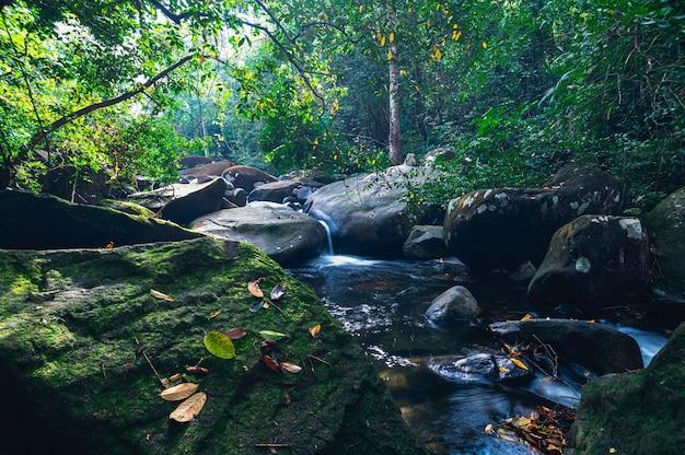 Il concetto di viaggio del parco nazionale delle cascate di khao chamao ama la natura