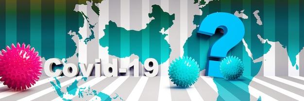 Viaggia al tempo del virus corona, concetto di rischio pandemico. illustrazione 3d