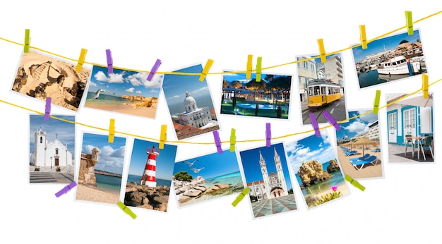 Foto di viaggio dal portogallo, collage