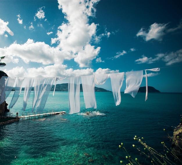 Viaggio, concetto di vacanza - agios sostis (cameo), piccola isola in grecia, zante