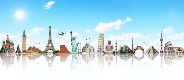Viaggia attraverso il concetto di monumento mondiale