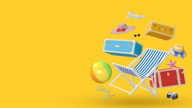 Fondo di concetto di vacanza di vacanza estiva di viaggio della spiaggia degli accessori del viaggiatore