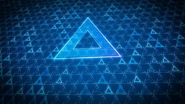 Modello a triangolo di sfondo tecnologia futura