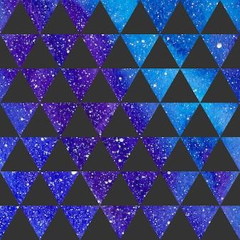 Modello di triangoli sulla trama dello spazio, sfondo astratto. illustrazione geometrica semplice