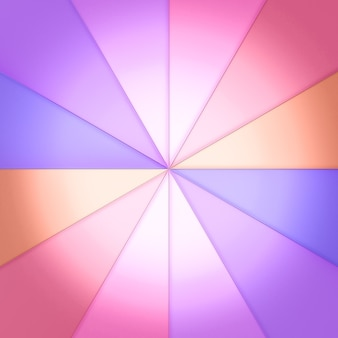 Vetrate triangolari disposte in cerchio. c'è una luce da dietro. rendering 3d