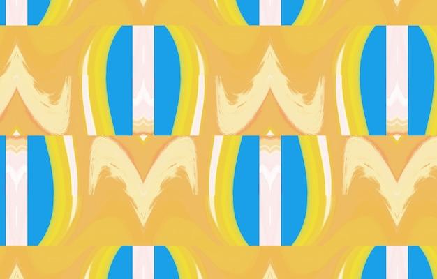 Modello geometrico colorato senza cuciture tribale poster di opere d'arte geometriche minimaliste pieno di colori