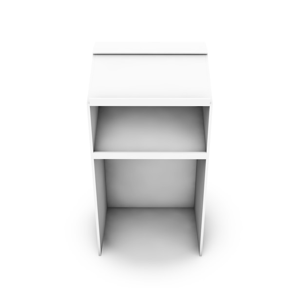 Tribune 3d rendering isolato su sfondo bianco