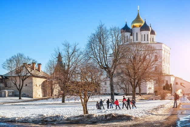 Cattedrale della trinità e l'addestramento della battaglia