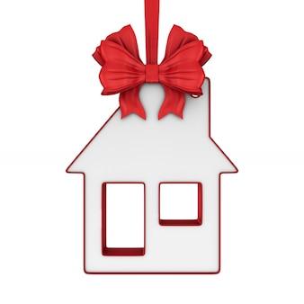 Casa gingillo su sfondo bianco. illustrazione 3d isolata