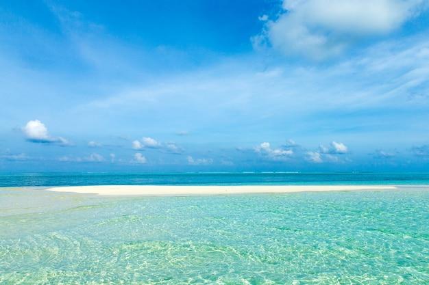 Mar dei caraibi spiaggia tropicale. paesaggio marino
