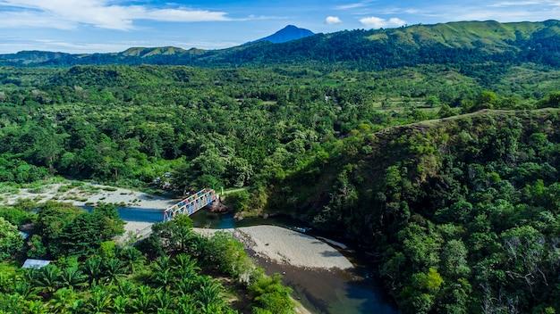 Foresta tropicale nel distretto di aceh besar provincia di aceh