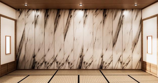 Lo stile tropicale con design in granito a parete. rendering 3d