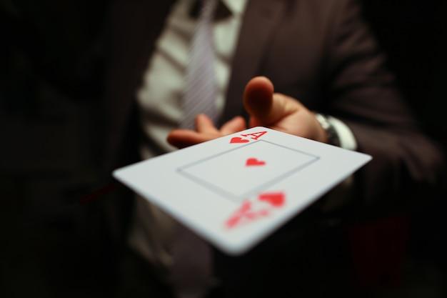 Trump in manica, gioco di biglietti da visita di strategia.