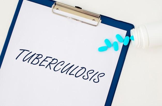 Parola di tubercolosi, iscrizione.