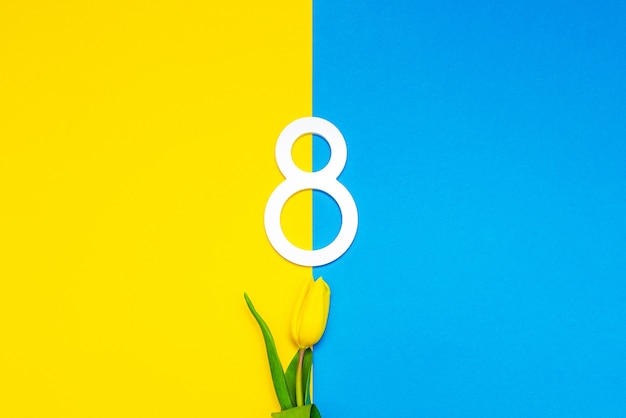 Fiore del tulipano per l'8 marzo giornata internazionale della donna