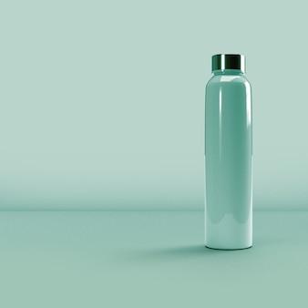 Tumbler packaging su sfondo blu