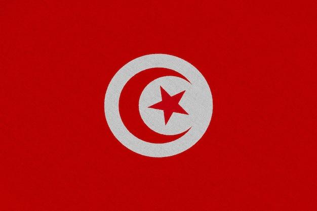 Bandiera del tessuto tunisia