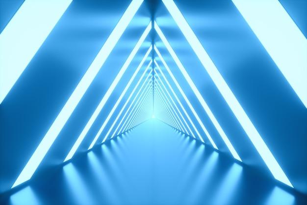 Tunnel con luci intense sulle laterali Foto Premium