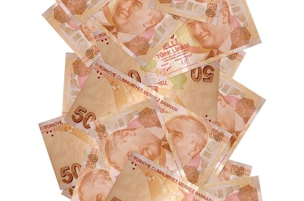Fatture della lira turca che volano giù isolate