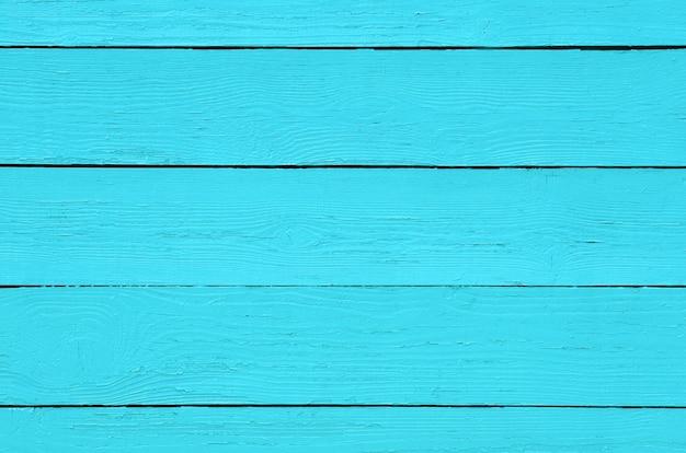 Tavole color turchese. sfondo di legno