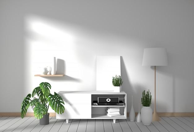 Mobile tv nella moderna stanza vuota