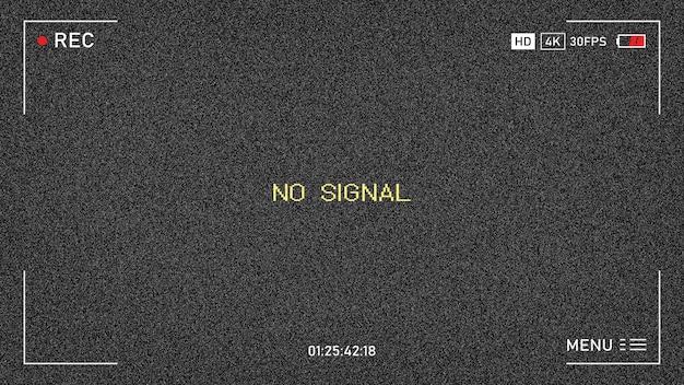 La tv non ha segnale. nessun segnale. rumore di fondo