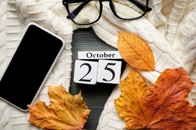 Venticinquesimo giorno del mese di autunno del calendario ottobre