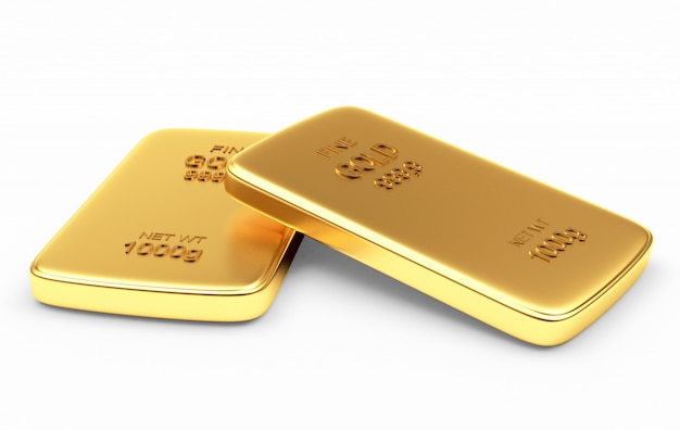 Due lingotti d'oro piatti