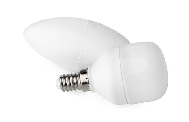 Due lampadine isolate su bianco