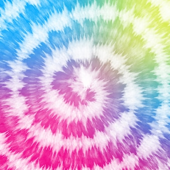 Tye dyepastel colorato gradiente bianco sullo sfondo a spirale