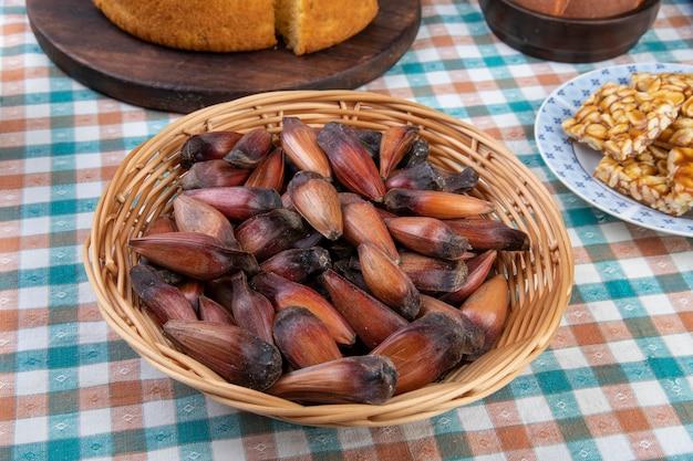 Cibo tipico brasiliano del festival di giugno. festa junina.