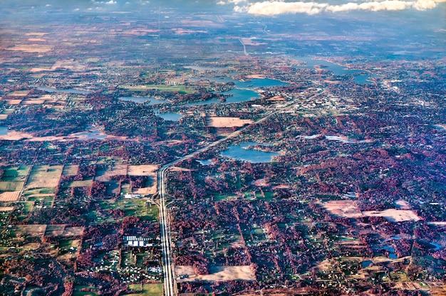 Tipico paesaggio dello stato del michigan negli usa