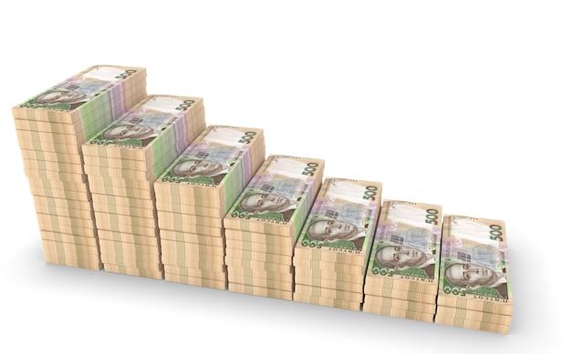 Grivna ucraina denaro isolato su sfondo bianco