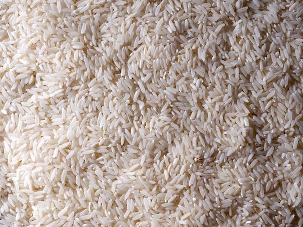 Granella di riso crudo, concetto di cucina, sfondo di cibo