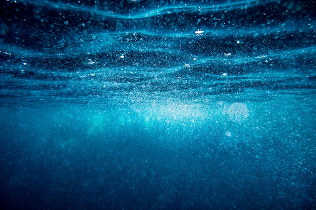 Sfondo di superficie onda subacquea