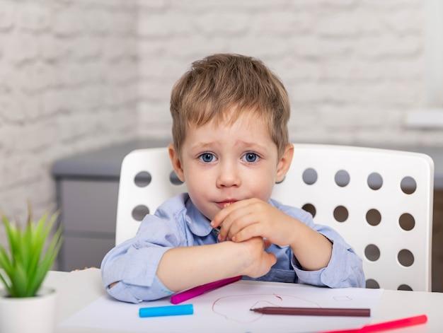 Espressione infelice, paura e turbamento per errori di apprendimento