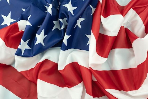 Bandiera degli stati uniti d'america close up immagine