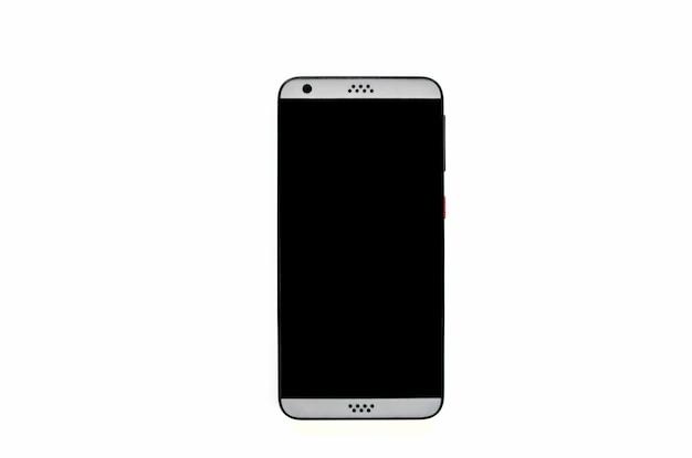 Uno smartphone non contrassegnato con uno schermo nero
